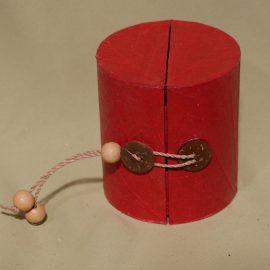 boîte à bijoux rouge