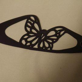 Bracelet papillon noir