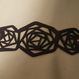 bracelet toile d'araignée noir