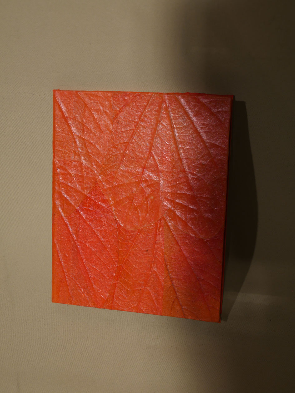 carnet de note fermé orange