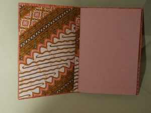 carnet de note jacinthe ouvert motifs