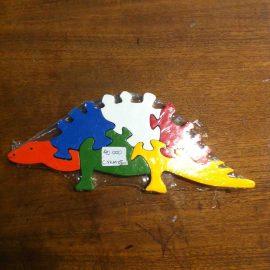 stégosaure à assembler jouet enfant