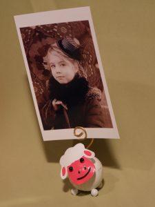 mouton rosé porte photo